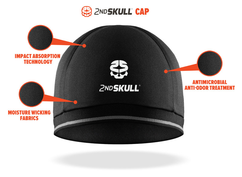 2nd Skull(R) Cap features Impact Absorbing Technology