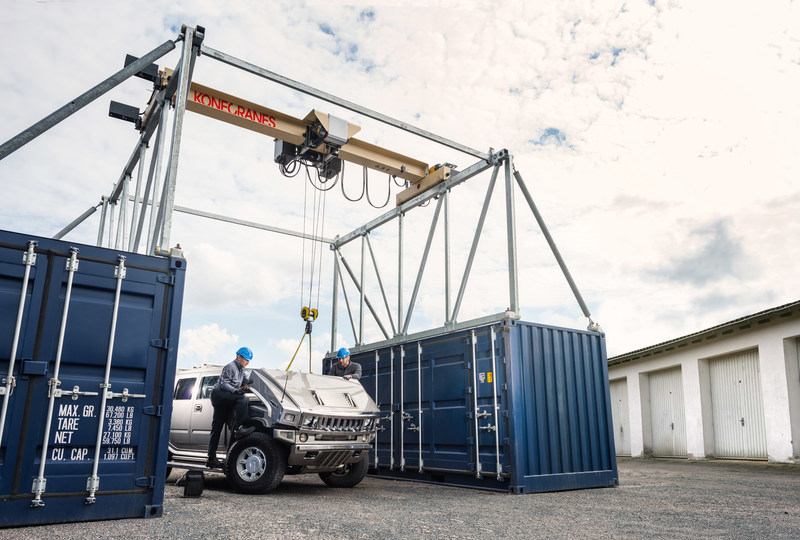 Konecranes new CXT Explorer brings factory-level overhead crane performance to remote and temporary locations.