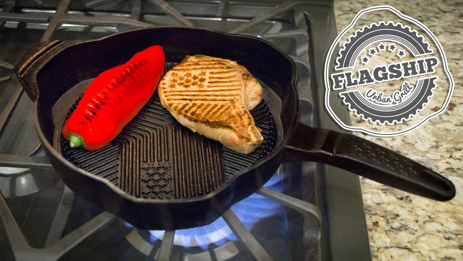 Flagship Grill Pan: all new 21st century urban grill skillet