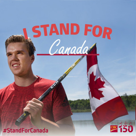CIBC 150 Ambassador, Connor McDavid, launches  #StandForCanada. (CNW Group/CIBC)