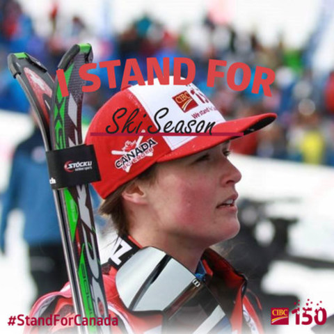 CIBC 150 Ambassador, Marielle Thompson, shares what it means to #StandForCanada. (CNW Group/CIBC)