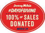 On Wednesday, March 29: Jersey Mike's Donates 100 Percent Of Sales To Local Charities