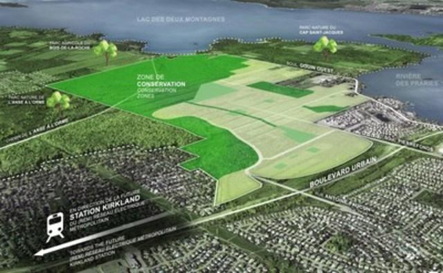 Le projet Cap-Nature Pierrefonds-Ouest (Groupe CNW/Cap-Nature de Pierrefonds-Ouest)