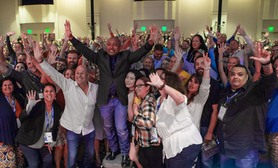 The LiveRez family with last year's keynote speaker, Shark Tank star and FUBU founder Daymond John.