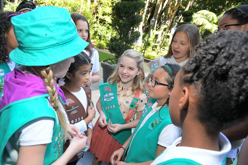 "Gifted star Mckenna Grace gushed ""I've always wanted to be a Girl Scout"" during a ceremony today where she joined the organization. During the celebration with girls from Girl Scouts Greater Los Angeles she promised to make the world a better place and be a sister to every Girl Scout. To join, volunteer, or donate, visit www.girlscouts.org."