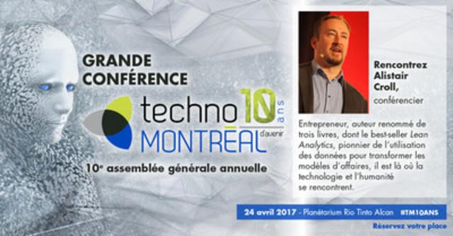 Bandeau Grande conférence TechnoMontréal : 10 ans d'avenir (Groupe CNW/TechnoMontréal)