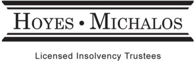 Hoyes, Michalos & Associates Inc. Licensed Insolvency Trustees (CNW Group/Hoyes, Michalos & Associates Inc.)