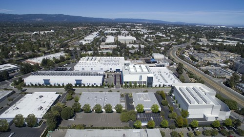 Vantage Data Center's Santa Clara campus with 4 completed data centers and two more under construction with 51MW of critical IT load today, and 24MW more coming with the two new buildings.