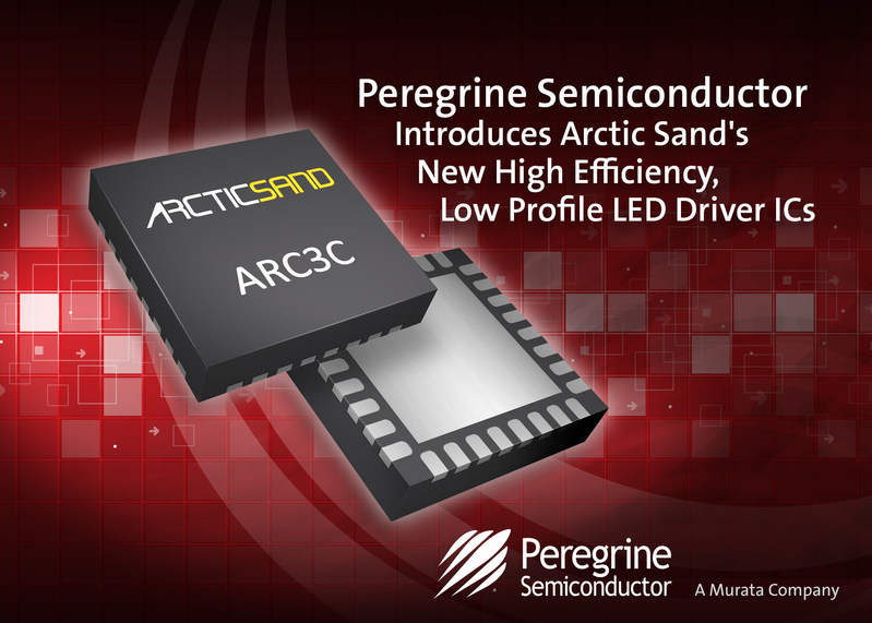 Peregrine Semiconductor introduces Arctic Sand's new product family--the world's highest efficiency, lowest profile LED driver ICs.