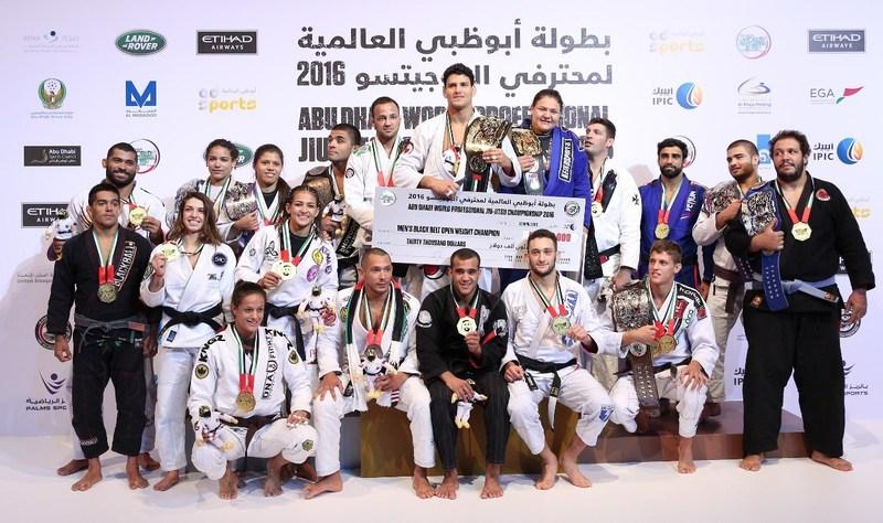 The world champions of the Abu Dhabi World Jiu- Jitsu Championship 2016 (PRNewsFoto/Abu Dhabi World Professional Jiu)