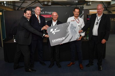 From left to right: Marko Sedovnik, CEO Lyoness Group AG, Willy Kempel, Austrian Ambassador to the State of Qatar, Hubert Freidl, CEO Lyoness International AG, Pau Serracanta, Managing Director Commercial Area at Dorna Sports, and Wim Grobler, General Director Lyoness Management IMEA. Photo credit: Dorna Sports S.L. (PRNewsFoto/Lyoness Europe AG)