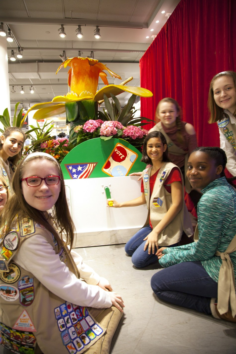Girl Scouts of the USA spotlights its legacy of girls' civic engagement by showcasing its Citizen badges at the 43rd annual Macy's Flower Show. To learn more about how Girl Scouts gives girls opportunities to create positive change in their communities, or to join, volunteer, or donate, visit www.girlscouts.org.