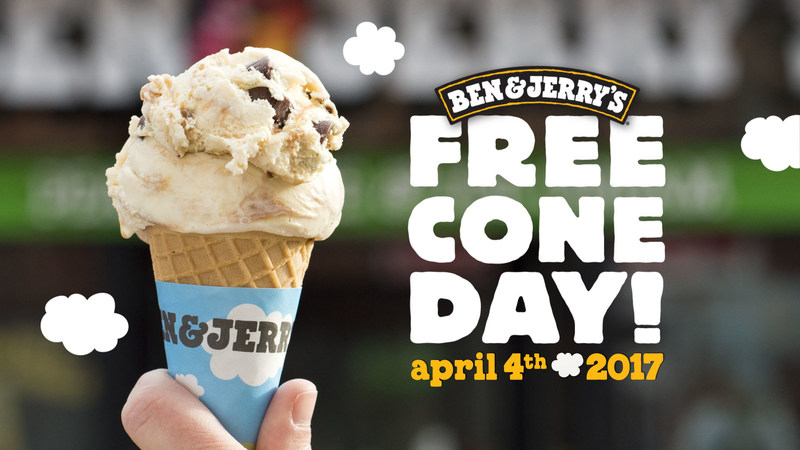 Free Cone Day at Ben & Jerry's is April 4, all around the world!