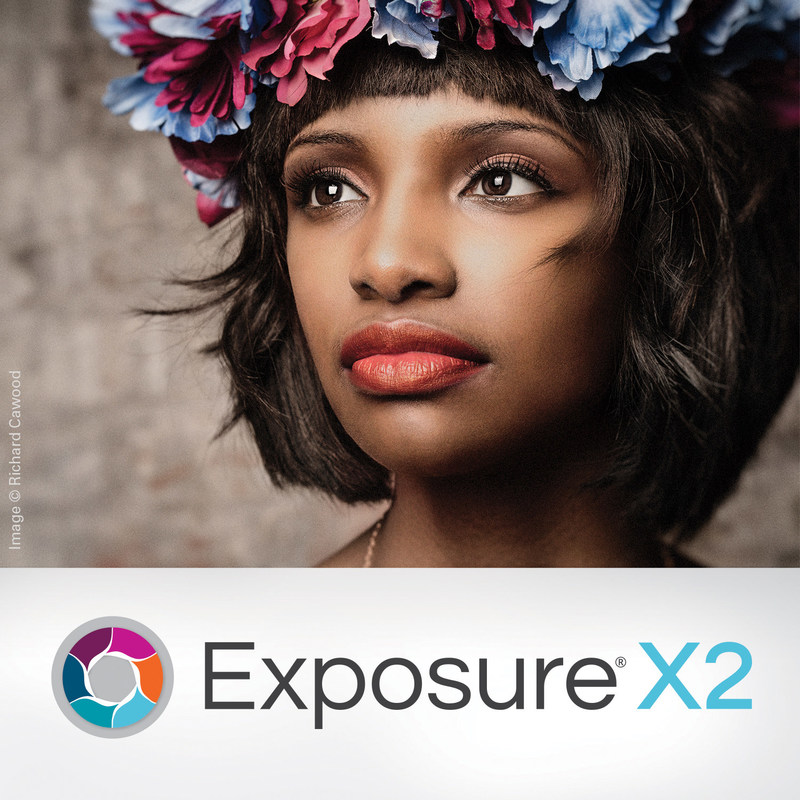 This Exposure X2 image incorporates the logo with a beautiful portrait by photographer and educator Richard Cawood. Exposure was used for fundamental image adjustments, coloring, and grain.  Photo (C) Richard Cawood https://www.richardcawood.com/