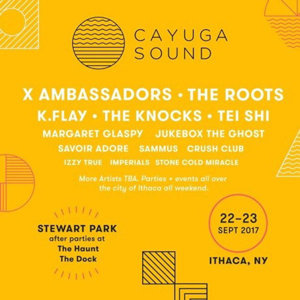 X Ambassadors And The Roots To Headline Inaugural Cayuga Sound Festival In Ithaca, NY September 22 - 23