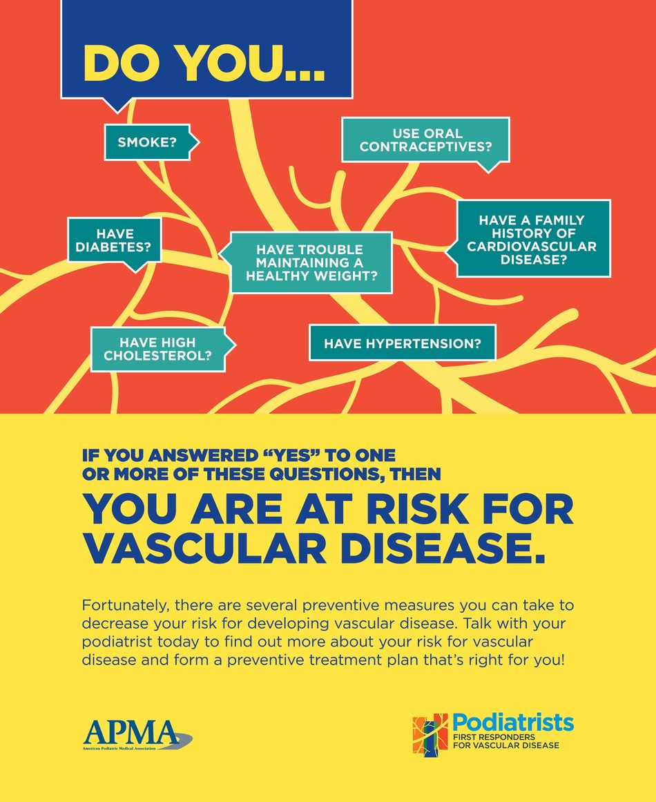 Don't let vascular disease slow you down. Visit: apma.org/vascular to learn your risk for vascular disease and make an appointment with Today's Podiatrist.