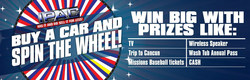 IPAC gives away premium prizes with its Giant Prize Wheel with any new or pre-owned vehicle purchase.