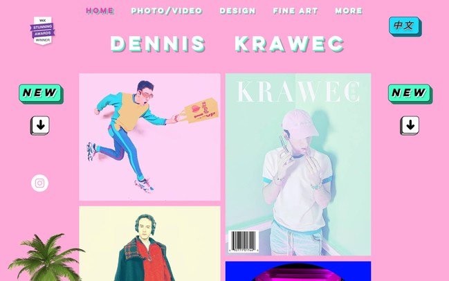 Dennis Krawec's Stunning Awards winning entry: krawec.org @Wix #StunningAwards