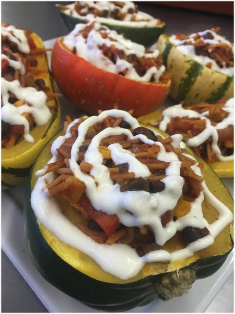 The grand prize winner of the 2017 C-CAP Meatless Monday Recipe Contest is this stuffed squash recipe from Adrian Gonzalez of the C-CAP program at the Los Angeles Center for Enriched Studies. Adrian, a 12th grader, won a $5,000 scholarship.