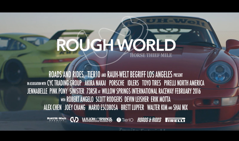 "Tier10 wins gold in Cinematography for web video ""Rough World: Horse Thief Mile"" featuring a day at the historic Willow Springs Raceway with RAUH-Welt BEGRIFF Porsches."