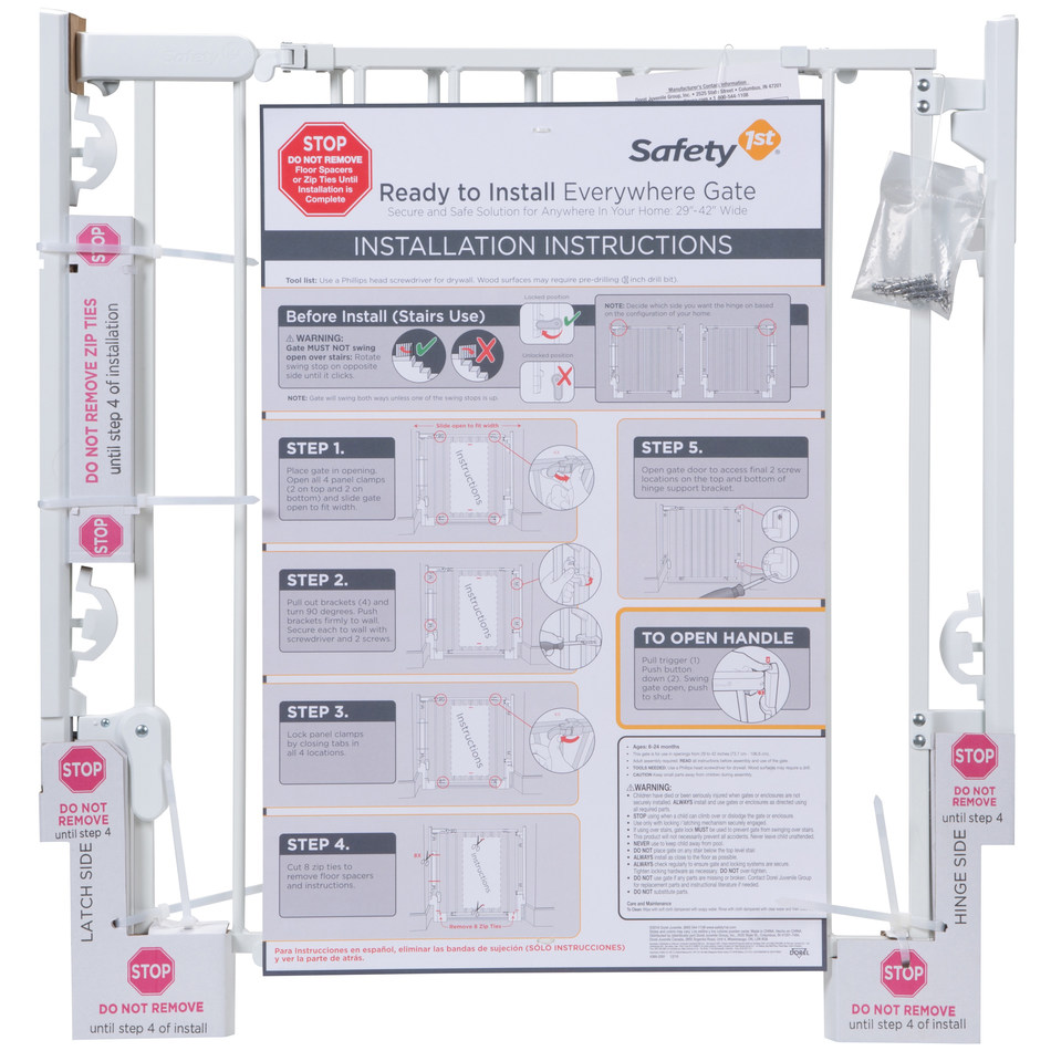 The new Ready to Install Everywhere Gate from Safety 1st goes from box to stairs in minutes.