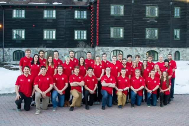 The members of WorldSkills Team Canada 2017 gathered in Montebello in preparation for WorldSkills Abu Dhabi 2017 (CNW Group/Skills/Compétences Canada)