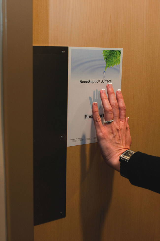 NanoSeptic Self-Cleaning Push Pad for Restroom Doors