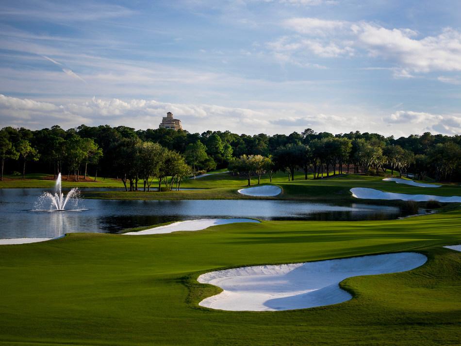 Tranquilo Golf Club, an 18-hole Tom Fazio designed golf course.