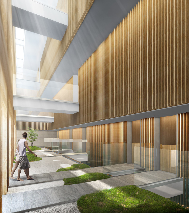 Rendering of the atrium