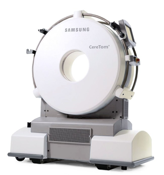 MedyMatch A.I. bleed detection application will be bundled with the CereTom(R) (pictured above) which is an 8-slice small-bore portable CT scanner that delivers the highest quality Non-Contrast, Angiography, and Contrast Perfusion scans in a variety of patient locations. - MedyMatch Technology Ltd. & Samsung NeuroLogica