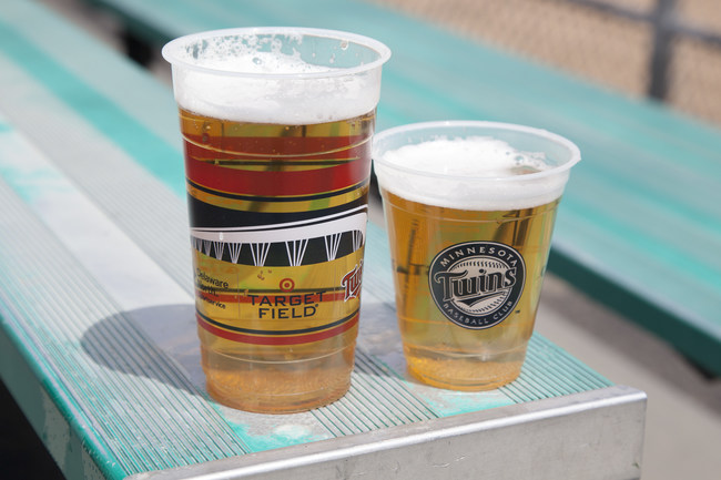 All beer cups -- as well as soft drink cups, coffee cups, plates, trays, soup cups, spoons, knives, forks, lids and straws -- are compostable at Target Field. They're made by Eco-Products, based in Boulder, Colo.