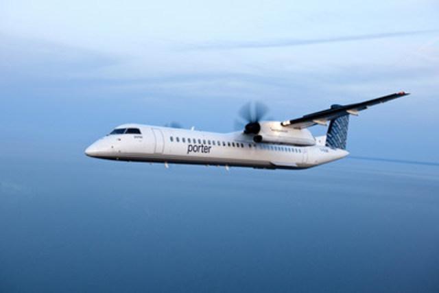 Porter Airlines et Bombardier Avions commerciaux ont annoncé aujourd'hui que la flotte de la société aérienne était passée à 29 avions grâce à la livraison par Bombardier d'un autre avion à turbopropulseurs Q400. (Groupe CNW/Porter Airlines Inc.)