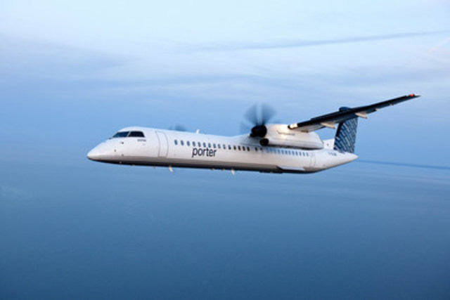 Porter Airlines and Bombardier Commercial Aircraft announced today that the airline's fleet has grown to 29 aircraft with Bombardier's delivery of another Q400 turboprop. (CNW Group/Porter Airlines Inc.)