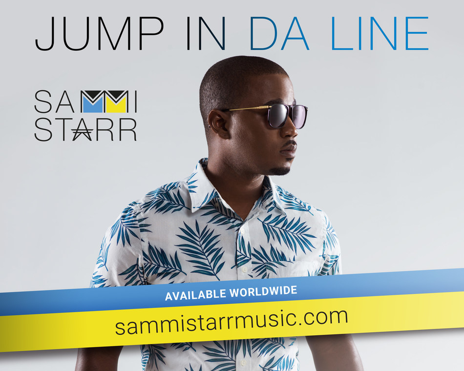 "Bahamas-born Sammi Starr on the cover of his new single record ""Jump in Da Line"", the Bahamian Carnival anthem that he is sharing with the world through his grassroots social media campaign ""#Bahamas, Your Best Picture Deserves My Best Song""."