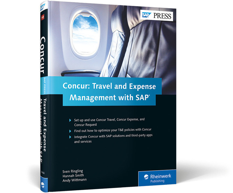 Concur: Travel and Expense Management with SAP (SAP PRESS) is the first book on the solution used by thousands of organizations to track and manage business expenses.