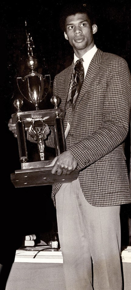 UCLA's Lew Alcindor won the inaugural Citizen Naismith Trophy in 1969.