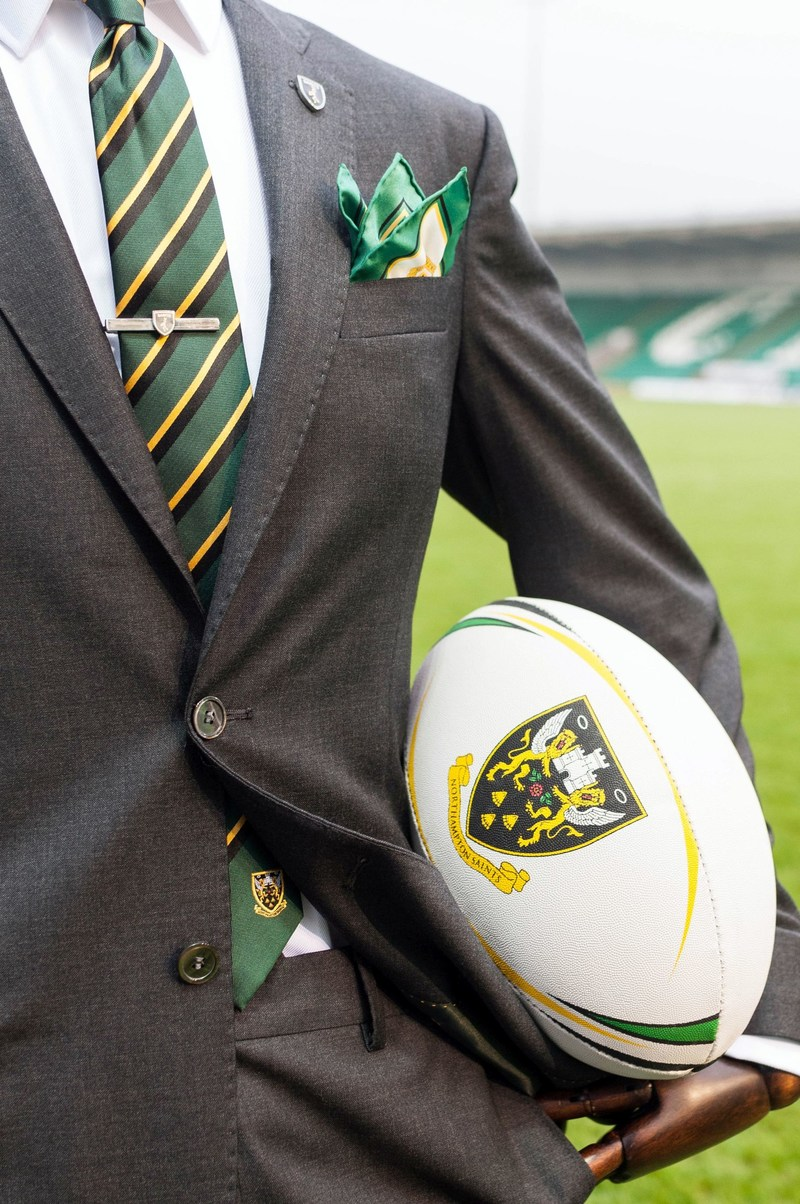 The Northampton Saints formal appearance by official tailors Hawes & Curtis (PRNewsFoto/Hawes & Curtis)
