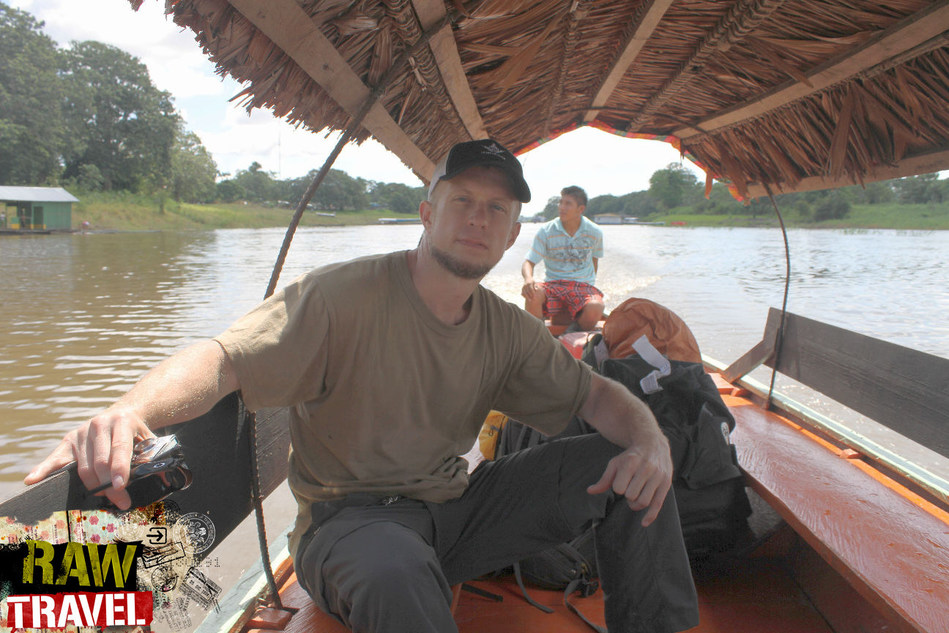 Raw Travel TV Host Robert Rose on location in the Amazon.