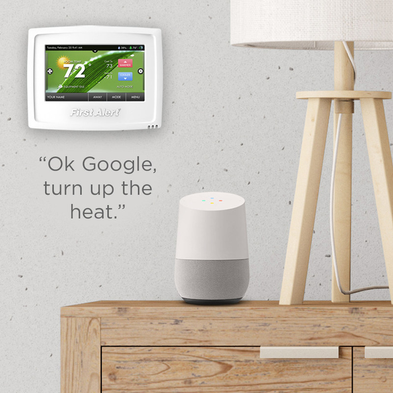 The Onelink Thermostat now works with the Google Assistant on Google Home