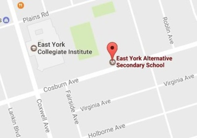 East York Alternative School, 670 Cosburn Ave., East York, M4C 2V2 (CNW Group/Rogers Communications Canada Inc. - English)