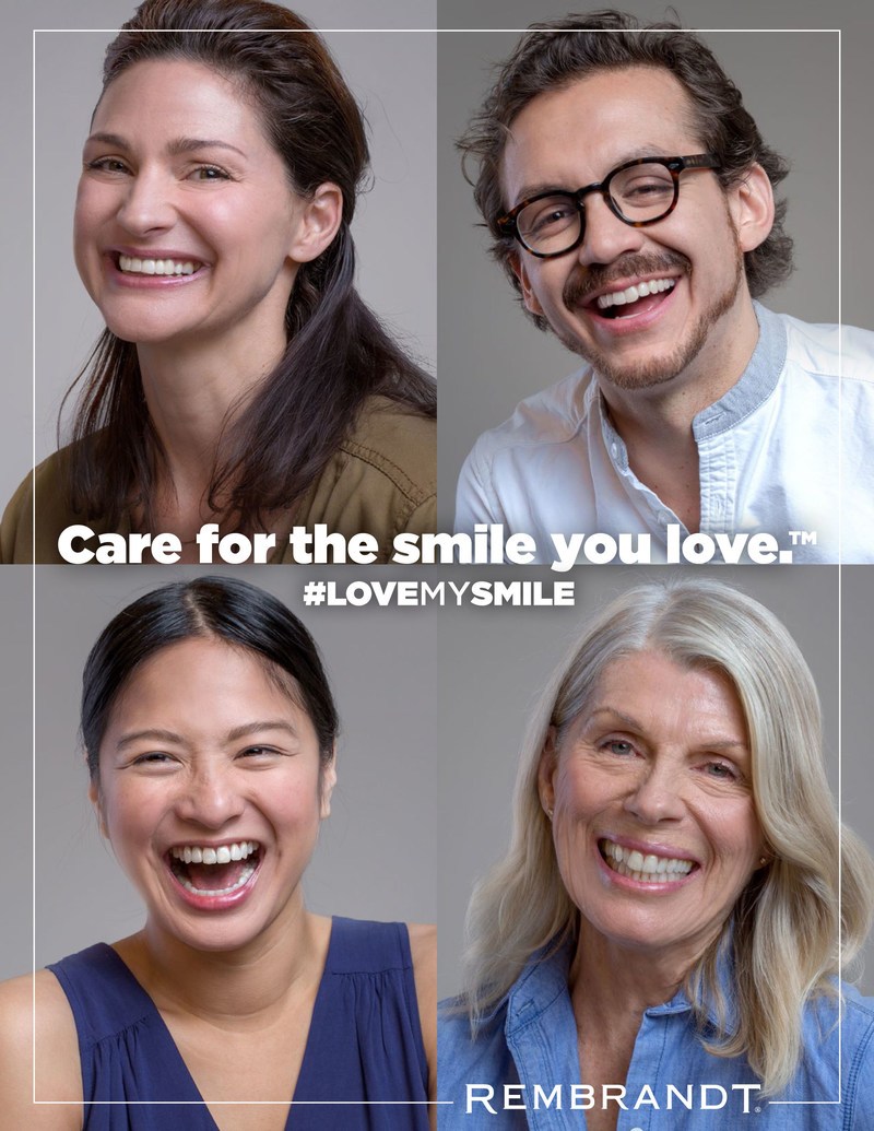 REMBRANDT encourages consumers to love and care for their uniquely beautiful smiles