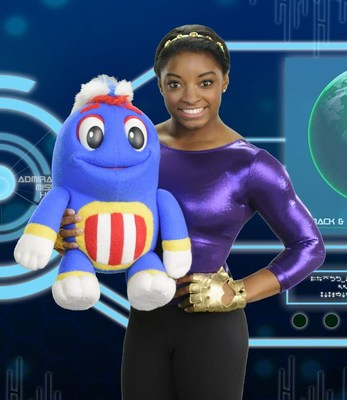 """Simone Biles joins the lovable characters from """"Mack & Moxy"""" for an episode about the power of play. Currently airing on Public Television Stations (PBS); Netflix and available nationwide on DVD. Check local listings for air times on public TV stations."""