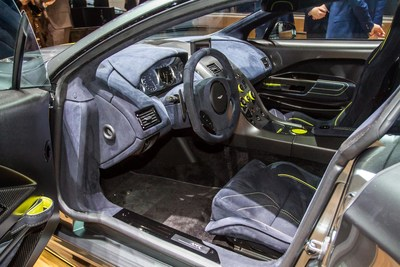 Interior view of the new Aston Martin AMR Rapide.