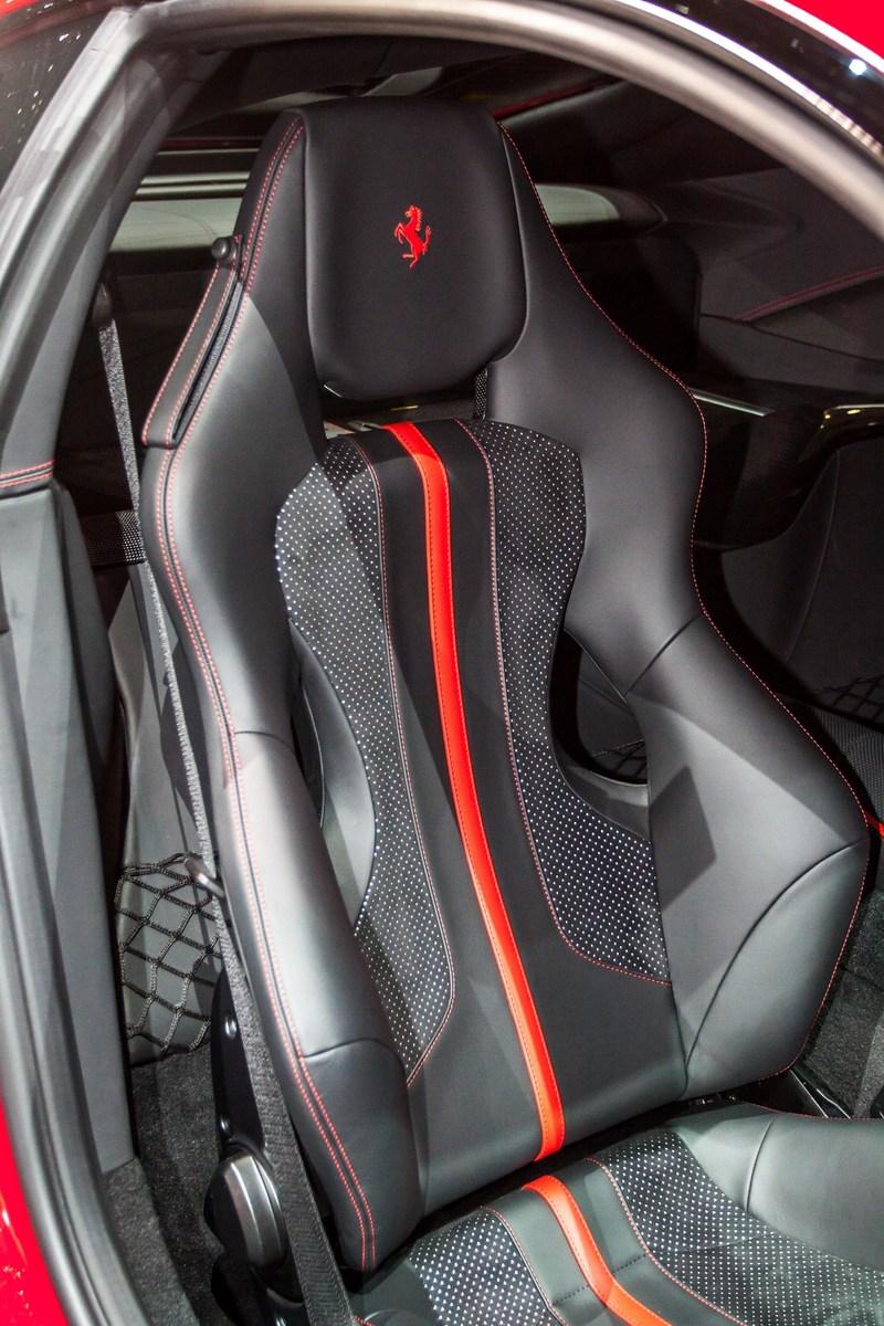 Ferrari 812 Superfast with Alcantara seating.