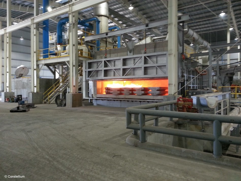 Constellium's new recycling furnace, known as Element 13, at its Muscle Shoals facility