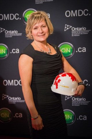 Ontario electrician, Kathy Choquette at a special Juno Awards pre-party. ECAO and IBEW are proud to be part of the 2017 Juno Awards. (CNW Group/Electrical Contractors Association of Ontario)
