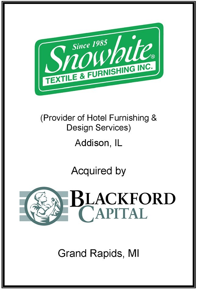 Aleutian Capital Group Represented Snowhite Textile & Furnishing, Inc. in its Sale to Blackford Capital
