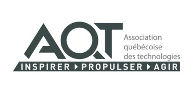 Logo : AQT (Groupe CNW/Association québécoise des technologies (AQT))