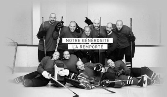 ''Notre générosité l'a remporté : Leucan mise sur la force du groupe pour cette nouvelle édition du Défi têtes rasées Leucan'' (Groupe CNW/Leucan)