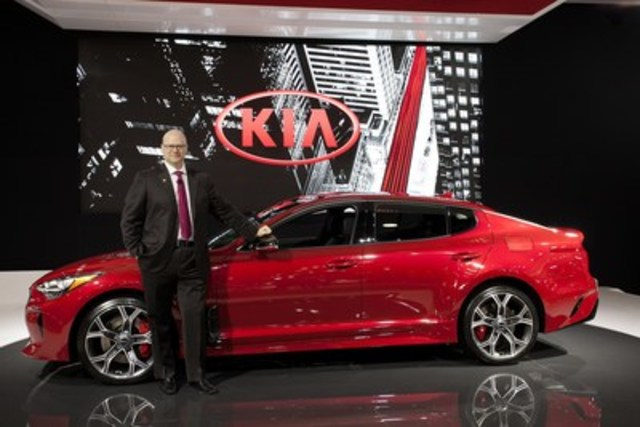 Today at the Vancouver International Auto Show, Kia demonstrated its commitment to design and quality with the regional debut of the all-new 2018 Kia Stinger. A five-passenger fastback sports sedan poised to redefine a segment currently populated by European automakers, the Stinger will be the company's first AWD sedan and highest-performance production vehicle ever – all backed by Kia Motors' industry-leading quality and reliability. (CNW Group/KIA Canada Inc.)